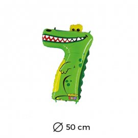 Palloncino Coccodrillo Numero 7 Foil 50 cm