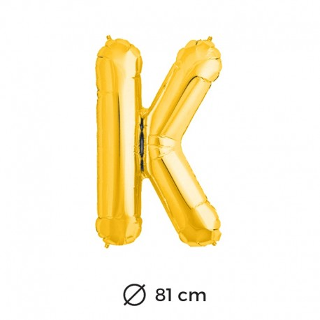 Palloncini Lettera K Foil 81 cm