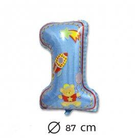 Globo Primer Año Niño Foil 87 cm