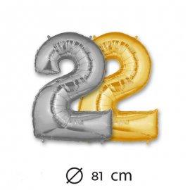 Palloncino Numero 2 Foil 81 cm