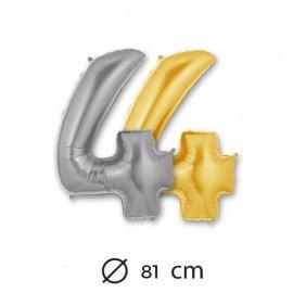 Palloncino Numero 4 Foil 81 cm