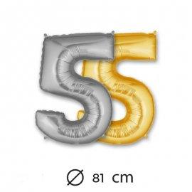 Palloncino Numero 5 Foil 81 cm