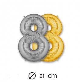 Palloncino Numero 8 Foil 81 cm