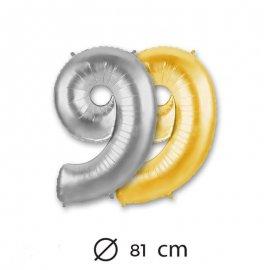 Palloncino Numero 9 Foil 81 cm