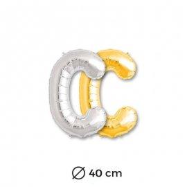 Palloncino Forma di Lettere C Mylar 40 cm