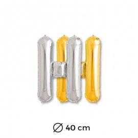 Palloncino H Foil 40 cm