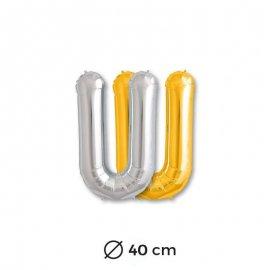 Palloncini Forma di Lettere U Mylar 40 cm