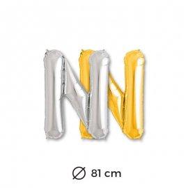 Palloncini Lettera N Foil 81 cm