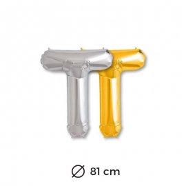 Palloncini Lettera T Foil 81 cm