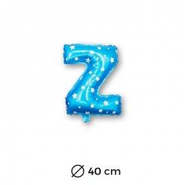 Palloncino Lettera Z Foil in Blu con Stelle 40 cm