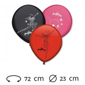 8 Palloncini Lady Bug Lattice