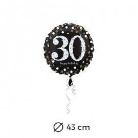 Globo Elegant 30 años 43 cm