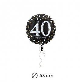 Globo Elegant 40 años 43 cm