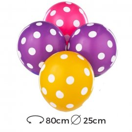 Palloncini Rotondi Pois Lattice 25 cm