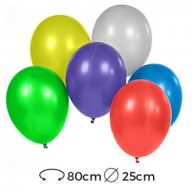 Palloncini Rotondi Metallizzati Lattice 25 cm