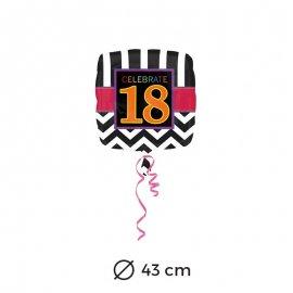 Palloncini 18 anni Chevron 43 cm