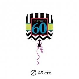 Palloncini 60 anni Chevron 43 cm