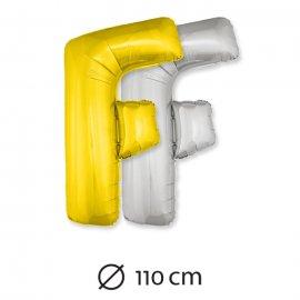 Palloncino Lettera F Foil 110 cm