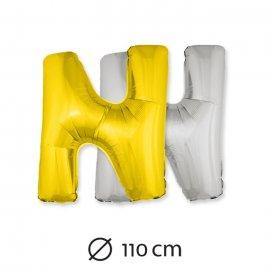 Palloncino Lettera N Foil 110 cm