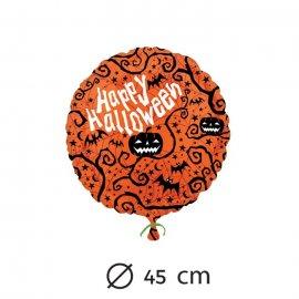 Palloncino a forma di zucca Happy Halloween foil