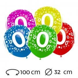 Palloncini Numero 0 Rotondi 32 cm