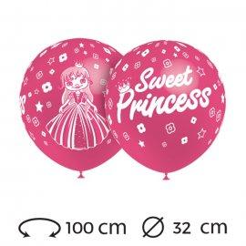 Palloncini Sweet Princess Rotondi 32 cm
