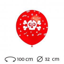 Palloncini Teschio Pirata Rotondi 32 cm