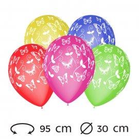 Palloncini Farfalle M02 Rotondi 30 cm