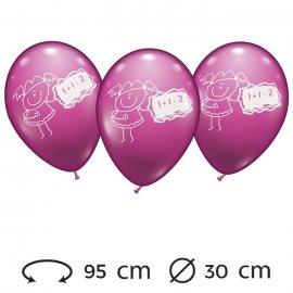 Palloncini Bimba Matematica Rotondi 30 cm