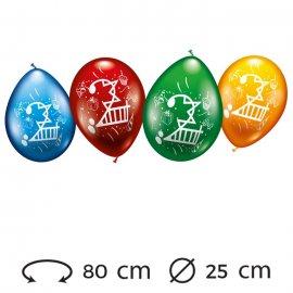 Palloncini Numero 2 Rotondi M02 25 cm