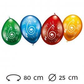Palloncini Numero 6 Rotondi M02 25 cm