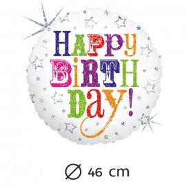 Palloncino Compleanno Mylar Rotondo 46 cm