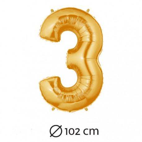 Palloncino Numero 3 Foil 102 cm