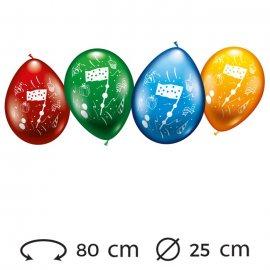 Palloncini Numero 7 Rotondi M02 25 cm