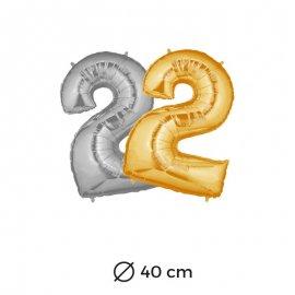 Palloncino Numero 2 Foil 35 cm