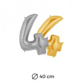 Palloncino Numero 4 Foil 40 cm