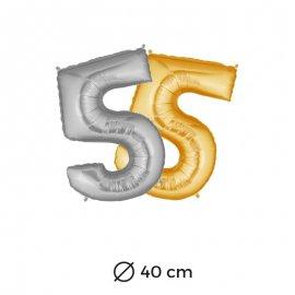 Palloncino Numero 5 Foil 35 cm