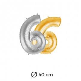 Globo Numero 6 Foil 40 cm