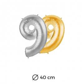 Palloncino Numero 9 Foil 40 cm