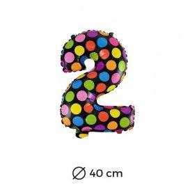Palloncino Lunare Numero 2 Foil 40 cm