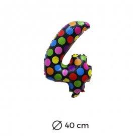 Palloncino Lunare Numero 4 Foil 40 cm