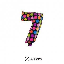 Palloncino Lunare Numero 7 Foil 40 cm
