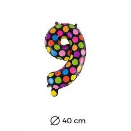 Palloncino Lunare Numero 9 Foil 40 cm