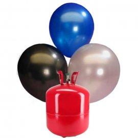 Bombola di Elio Grande con 50 Palloncini Metallizzati